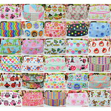 "2 Yds 7/8"" 22mm Grosgrain Cartoon flower Printed Pattern Ribbon Craft Decor"