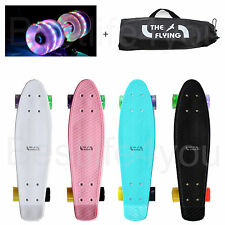 "The Flying Cruiser Skateboard Complete Light 2ea Wheel Penny Burzen Type 22""+Bag"