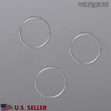 925 Sterling Silver Open Jump Rings Jewelry Making DIY Findings 5mm Dia~0.8mm