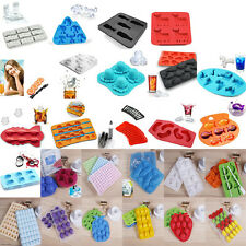 Silicone/plast Multi-Shape Jelly Pudding Chocolate Cake Ice Tray Mold Mould Cube