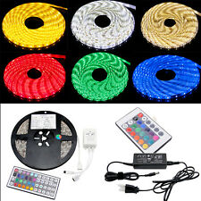 RGB 3528 5050 SMD waterproof 300 LED Light Strip Flexible + IR Remote 12V power