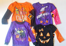 Walmart Infant Girls Halloween T-Shirt 4 To Choose From Sz  12M 18M and 24M NWT