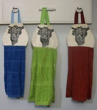 Alpacas Pasture Farm Barn Hanging Kitchen Oven Cabinet Hand Dishtowel HCF&D