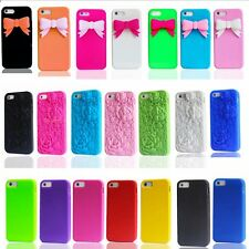 3D Rose Bowknot Rubber Soft Back Case Cover Shell for Apple iPhone 6 6 Plus 5 5s