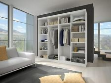 Modern Wardrobes MU 233cm wide 2sliding doors mirror perfect interior some gloss