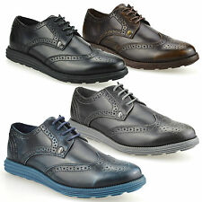Mens Firetrap Casual Brogues Smart Formal Office Work Lace Up Brogue Shoes Size