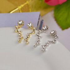 Pretty Nice Women Rhinestone Gold Silver Crystal Earrings Ear Hook Studs Jewelry