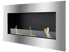 Ignis Ventless Recessed Bio Ethanol Fireplace Optimum with Optional Front Glass