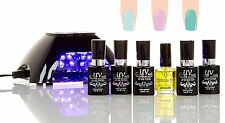 UV-NAILS Salon Quality UV or LED Gel Polish Starter Kit with Black V10 LED Lamp