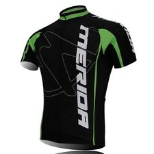 Short Sleeve Men's Green Cycling Jerseys Bicycle Biking Jerseys Jacket Top