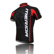 Short Sleeve Men's Red Cycling Jerseys Bicycle Biking Jerseys Jacket Top