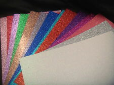 2/3 sheets .A4 Glitter Card 15 mixed Colours Dovecraft Premium A4 220gsm Card!