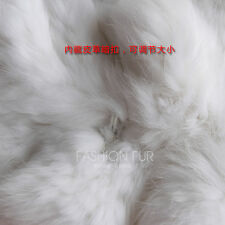 100% Real Genuine Knitted Rabbit Fur Shawl Stole Cape Poncho Coat Wedding Deluxe