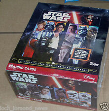 Topps Star WarsThe  Force Awakens Trading Cards: Quantity 9 18 36 Packets or Box