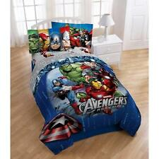 Boys REVERSIBLE AVENGERS Comforter Sheets Bed in a Bag Bedding SET TWIN FULL