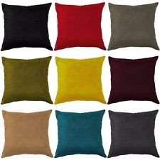 "Plain CHENILLE Cushion Covers 16""x16"", 18""x18"", 20""x20"" & 22""x22"" Luxury"