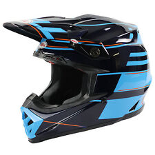 Bell NEW 2016 Mx Moto-9 Flex Carbon Blocked Blue Motocross Dirt Bike Helmet