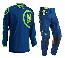 Thor NEW 2016 Youth Mx Phase Gasket Navy Lime Motocross Dirt Bike Kids Gear Set