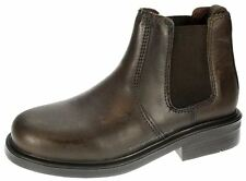 Oaktrak Walton Chocolate  Brown Chelsea, Ankle Boots Pull On Boys Leather