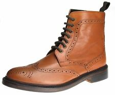 Bench Grade Moreton Tan Brown Lace Up Chelsea Ankle Boots Pull Welted Mens