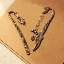 Women's Antiqued Bronze Alloy Angel Mermaid Hairpins Retro Pendant Bookmarks
