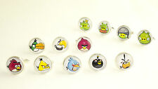Angry Birds Bad Piggies Themed Novelty Round Button Cufflinks Tie Clips