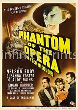 Phantom of the Opera 1943 Movie Film Poster A2 A3 A4