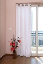 "White Faux Silk Curtains, 51""(130cm) Wide - Choice of Plain Top, Length & Lining"