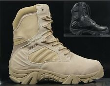 Men Desert Delta Force Military Boots Tactical Army SWAT Black Airsoft Hunting