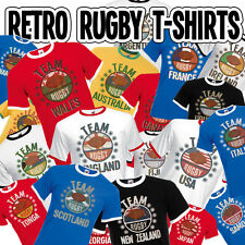 Team Rugby Mens Retro T-Shirt Choose Your Team Perfect For World Cup & 6 Nations