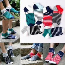 5 Pairs Lot Fashion Mens Ankle Socks Low Cut Crew Casual Sport Color Cotton Sock