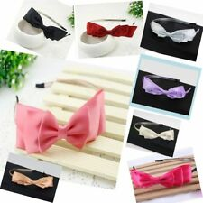 Hot Sale Lady Big Bowknot Ribbon Headband Bow Head Band Clip Hair Band Accessory