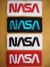 NASA Space Agency Embroidered Iron On Oblong Patch Brand New Various Colours