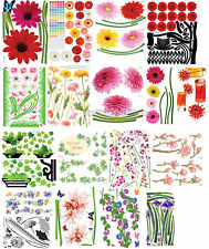 #04_Flower,Plant-i, Mural Decals Decor Home Art Removable Deco DIY Wall Sticker