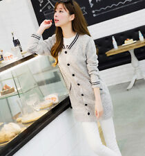New Womens Long Sleeve Casual Knitted Sweater Cardigan Jumper Long Jacket Coat