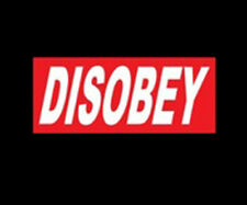 Disobey Occupy 99% Revolution Red & White Ink Design Funny T-Shirt Tee