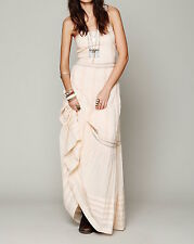 NEW CANDELA $285 Lace Maxi Dress FREE PEOPLE Long Pieced Eyelet Gown Medium 8 10