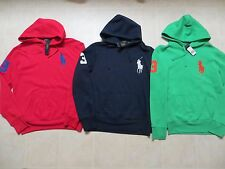 POLO RALPH LAUREN MENS BIG PONY #3 FLEECE PULLOVER HOODIE SWEATSHIRT Sz S M LNWT
