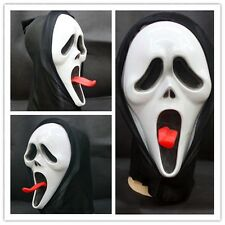 Opening Mouth & Long tongue Scream Ghost Scary Face Mask Halloween Party