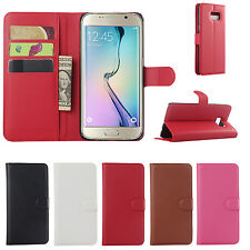 """1X PU Leather Case Flip Wallet Stand Cover For 5.7"""" Samsung Galaxy S6 Edge Plus"""