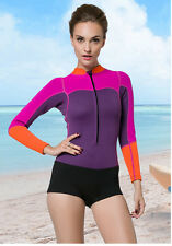 2mm Neoprene Woman Jacket Swimming Wetsuit Jumpsuits Zip Surfing Suit Wetsuit