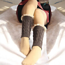 High Quality Delicate Crochet Knitted Lace Women Boot Cuffs Toppers Leg Warmers