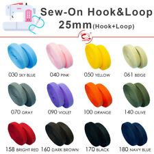 LOVETEX Brand Colorful 25mm (1 inch) Sew on Hook and Loop Fastener Tape