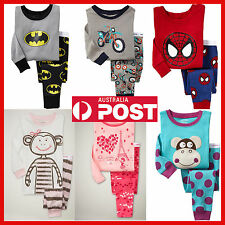 AU NEW Boys Girls Cotton Pyjamas 1-6 Years Baby Pajamas PJS PJ's Sale XPD 999