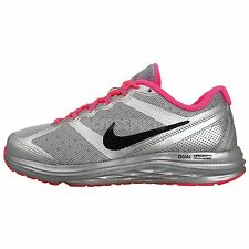 Nike Dual Fusion Run 3 Flash GS Silver Pink Girls Youth Running Shoes 685744-060