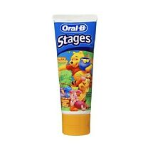 3x, 12x or 24x Oral B Stages Winnie the Pooh Berry Bubble Toothpaste 96g Tubes