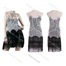 1920s Vintage Flapper Dress Great Gatsby Charleston Striped Tassel Party Costume