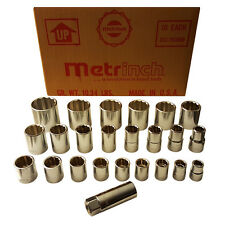 "ORIGINAL METRINCH USA 1/2"" & 3/8"" DRIVE 12pt INDIVIDUAL SOCKETS PICK YOUR SIZE"