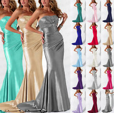 Strapless Bridesmaid Dresses Floor Length Formal Evening Gowns dress Size 6+++18