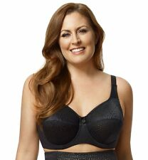 New Leopard Lace Soft Cup Underwire Full Figure Bra # 2211 Pretty Sexy Black